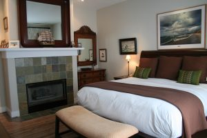 Master Bedroom with King and Fire place