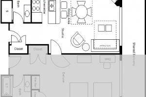 Studio Deluxe Room Floor Plan