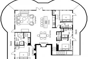 Three Bedroom Penthouse 1st Floor Plan