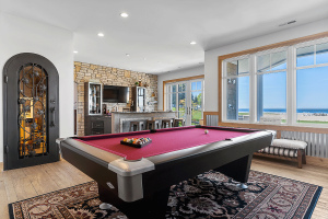 Pool Table on Lower Level