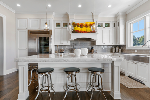High End Appliances and Marble Countertops